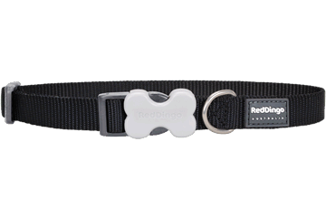 Red Dingo Dog Collar Classic Black DC-ZZ-BB