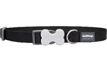 Red Dingo Dog Collar Classic Black DC-ZZ-BB