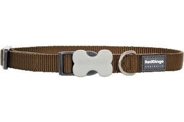 Red Dingo Hundehalsband Klassisch Braun DC-ZZ-BR