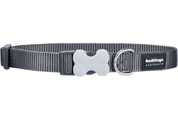 Red Dingo Hundehalsband Klassisch Cool Grey DC-ZZ-GY