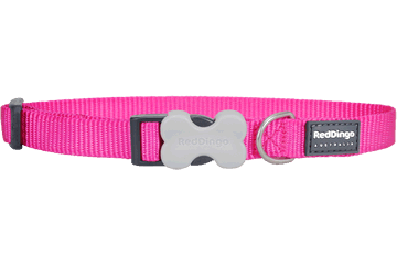 Red Dingo Hundehalsband Klassisch Hot Pink DC-ZZ-HP