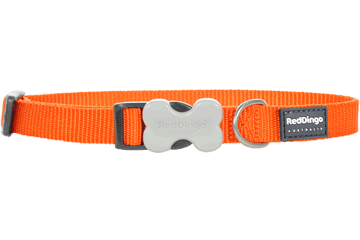 Red Dingo Hondenhalsband Klassiek oranje DC-ZZ-OR