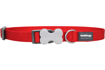Red Dingo Hundehalsband Klassisch Rot DC-ZZ-RE
