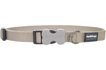 Red Dingo Dog Collar Classic Silver DC-ZZ-SI
