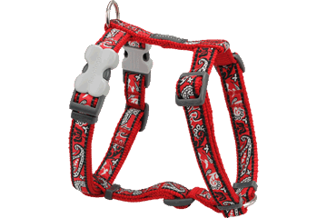 Red Dingo Dog Harness Bandana Rosso DH-BA-RE