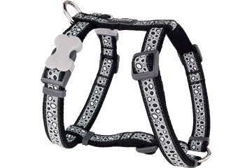 Red Dingo Dog Harness Bedrock Nero DH-BE-BB