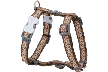 Red Dingo Dog Harness Bedrock Marrone DH-BE-BR