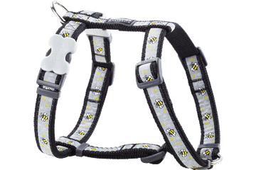 Red Dingo Dog Harness Bumble Bee Nero DH-BM-BB