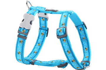 Red Dingo Dog Harness Bumble Bee Turquoise DH-BM-TQ