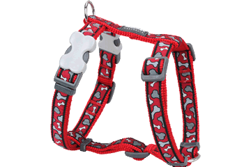 Red Dingo Dog Harness Bonarama Rosso DH-BR-RE