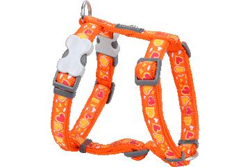Red Dingo Dog Harness Breezy Love Arancione DH-BZ-OR