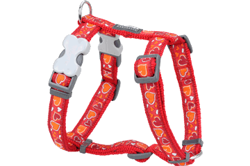 Red Dingo Dog Harness Breezy Love Rosso DH-BZ-RE