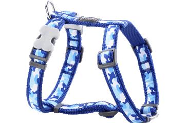 Red Dingo Dog Harness Camouflage Dark Blue DH-CF-DB