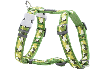 Red Dingo Dog Harness Camouflage Verde DH-CF-GR