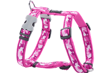 Red Dingo Dog Harness Camouflage Hot Pink DH-CF-HP