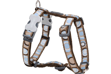 Red Dingo Dog Harness Circadelic Brown DH-CI-BR