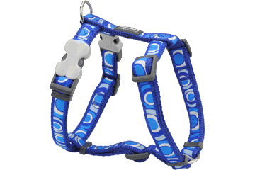 Red Dingo Dog Harness Circadelic Bleu Foncé DH-CI-DB