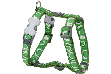 Red Dingo Dog Harness Circadelic Green DH-CI-GR