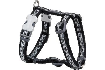 Red Dingo Dog Harness Chain Nero DH-CN-BB