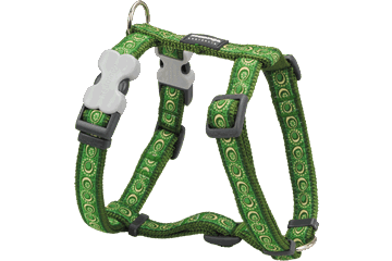 Red Dingo Dog Harness Cosmos Verde DH-CO-GR