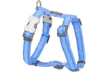 Red Dingo Dog Harness Cosmos Medium Blue DH-CO-MB