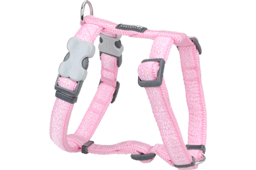Red Dingo Dog Harness Daisy Chain Rosa DH-DC-PK