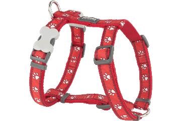 Red Dingo 犬用ハーネス 砂漠の足跡 赤 DH-DP-RE