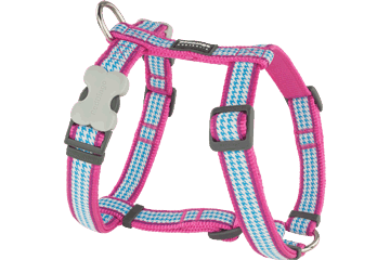 Red Dingo Dog Harness Fang It Hot Pink DH-FG-HP