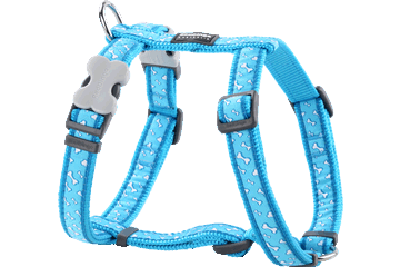 Red Dingo Dog Harness Flying Bones Turquoise DH-FL-TQ