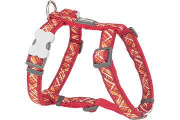 Red Dingo Dog Harness Flanno Red DH-FN-RE