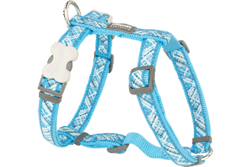 Red Dingo Dog Harness Flanno Turquoise DH-FN-TQ