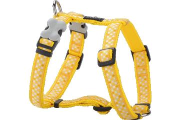 Red Dingo Dog Harness Gingham Giallo DH-GI-YE