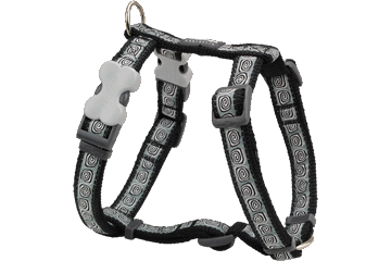 Red Dingo Dog Harness Hypno Black DH-HY-BB