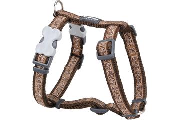 Red Dingo Dog Harness Hypno Marrone DH-HY-BR