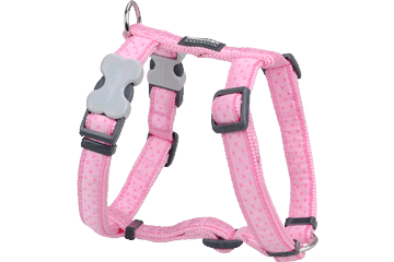 Red Dingo Dog Harness Love Sprinkles Rosa DH-LS-PK