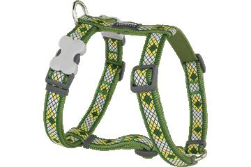 Red Dingo Dog Harness Monty Verde DH-MY-GR
