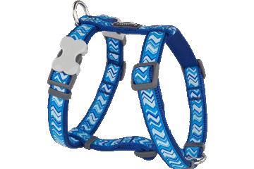 Red Dingo Dog Harness Pizzazz Dark Blue DH-PZ-DB