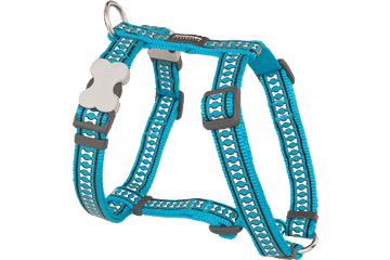 Red Dingo Dog Harness Reflective Bones Turquoise DH-RB-TQ