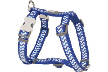 Red Dingo Dog Harness Reflective Ziggy Dark Blue DH-RZ-DB