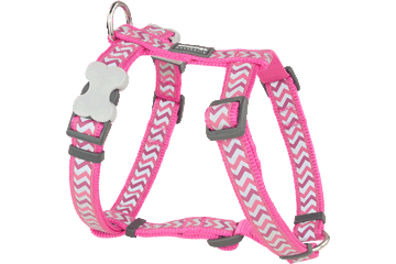 Red Dingo Dog Harness Reflective Ziggy Hot Pink DH-RZ-HP