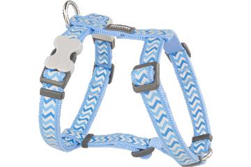 Red Dingo Dog Harness Reflective Ziggy medium blauw DH-RZ-MB