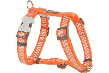 Red Dingo Dog Harness Reflective Ziggy oranje DH-RZ-OR