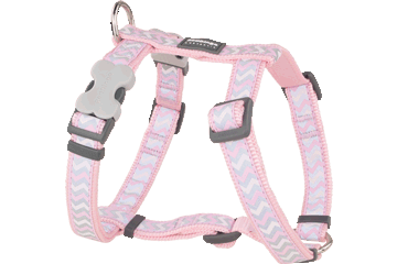 Red Dingo Dog Harness Reflective Ziggy Pink DH-RZ-PK