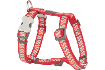 Red Dingo Dog Harness Reflective Ziggy Red DH-RZ-RE