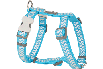 Red Dingo Dog Harness Reflective Ziggy Turquoise DH-RZ-TQ