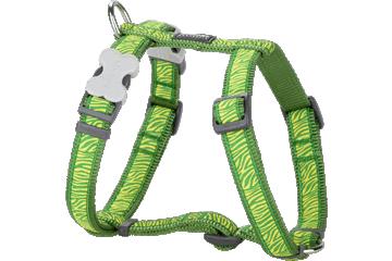 Red Dingo Dog Harness Safari Verde DH-SA-GR