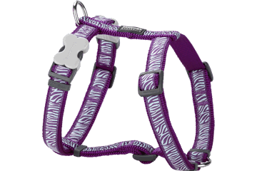 Red Dingo Dog Harness Safari Viola DH-SA-PU