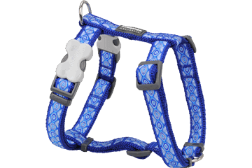 Red Dingo Dog Harness Snake Eyes Dark Blue DH-SE-DB