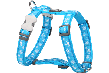 Red Dingo Dog Harness Snow Flake Turquoise DH-SF-TQ