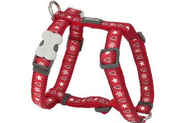 Red Dingo Dog Harness Santa Paws Rosso DH-SP-RE